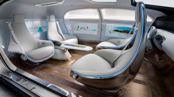 Mercedes-Benz F 015 from inside