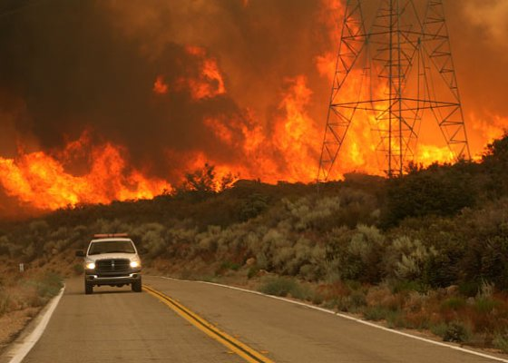 Major fire in forest's California