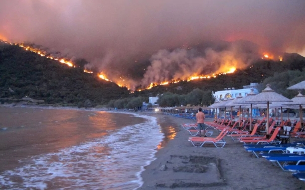 Greece forest fire