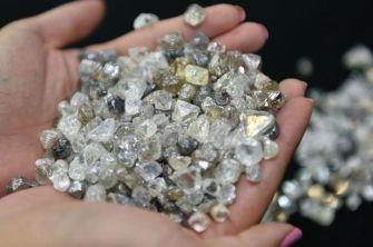 Diamond pieces in Nördlingen city