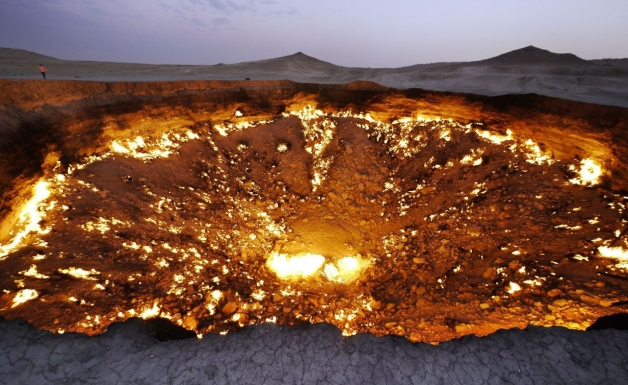 The Karakum Desert, a Fire Gate of Hell