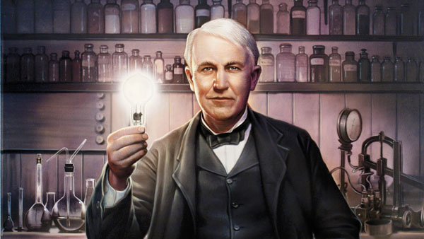 Scientist Thomas Alfa Edison